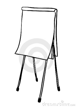 flip chart drawing  vector  stock images