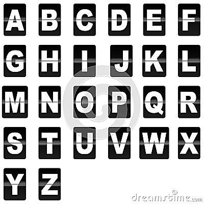 Flip down letters