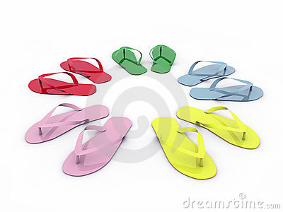 Flip-flops isolated on white background