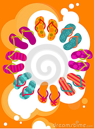 Free Flip-flops On The Summer Poster Royalty Free Stock Images - 9999329