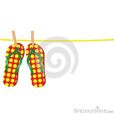 Flip-flops on a rope