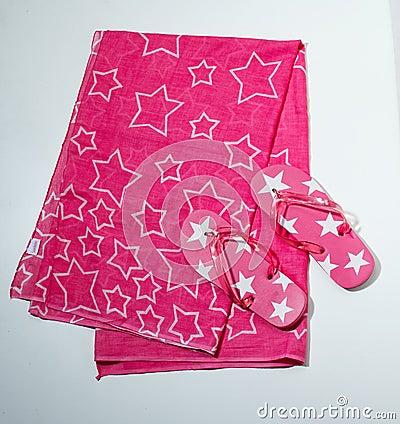Flip-Flops and Towel - Flip-Flops und Handtuch