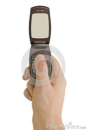 Flip phone in hand