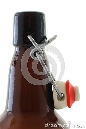 Flip-top beer bottle