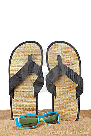 Flipflops on the sand
