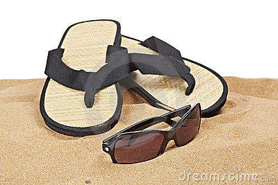 Flipflops on the sand
