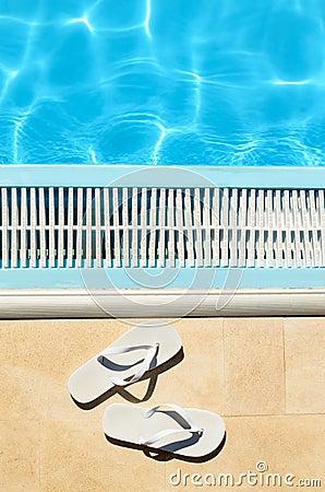 Flipflops summer pool