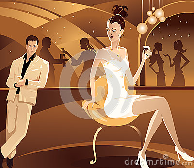 Flirtation. Vector illustration.