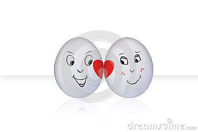 Flirting Egg on white