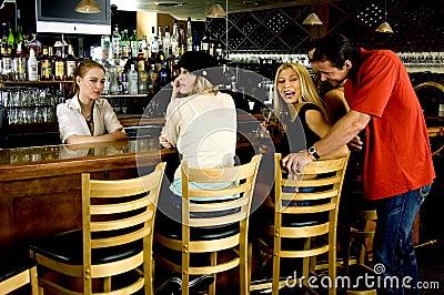 Flirting at the pub