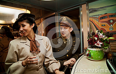 Flirting on the Troop Train Editorial Image