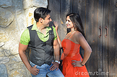 Flirty Indian Couple