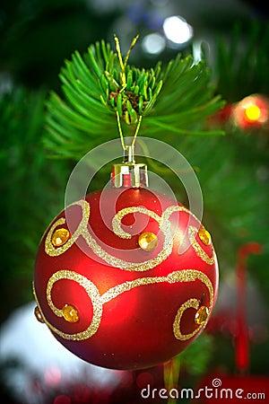 Flitter auf Weihnachtsbaum