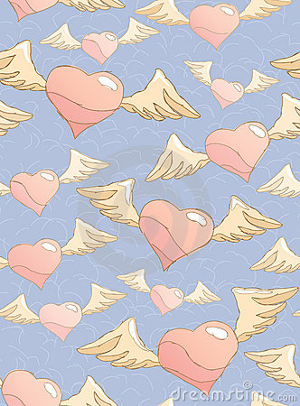 Free Flitting Hearts Stock Images - 18635454