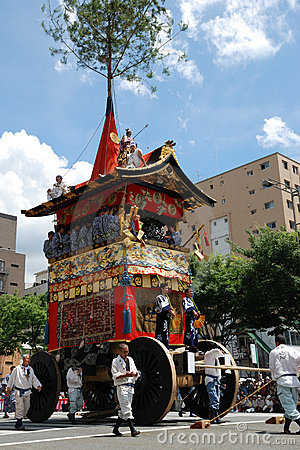 The float of Gion Matsuri, festival of Japan Editorial Stock Photo