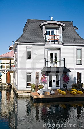 Float homes or marina village