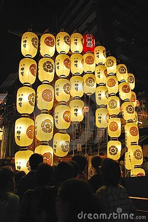 Float with lanterns during the Gion festival Editorial Photo
