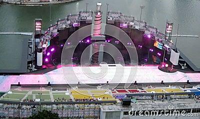 The Float at Marina Bay Editorial Image