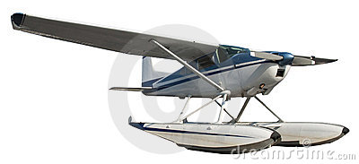 Float Plane, Aircraft, Airplane Isolated on White