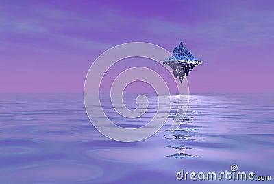 Floating alien island