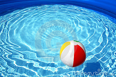 Floating ball in a swimming pool