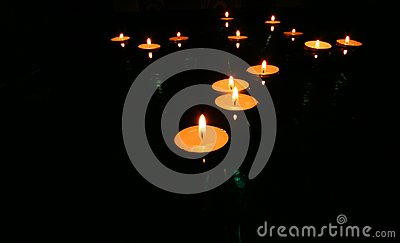 Floating Candles 2 Royalty Free Stock Image - Image: 6450156