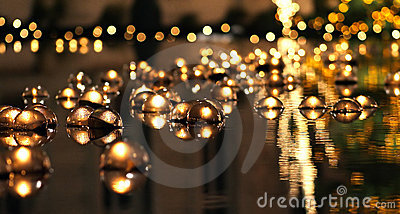 Floating Candles in Reflection