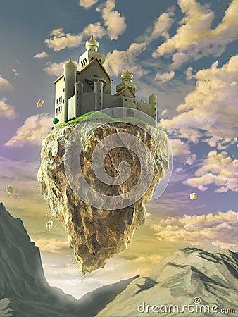 Floating Castle Royalty Free Stock Image Image 31798546