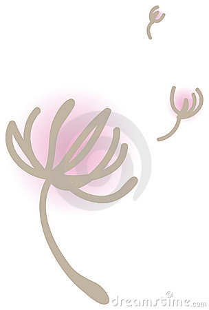 Floating dandelions in the wind vector