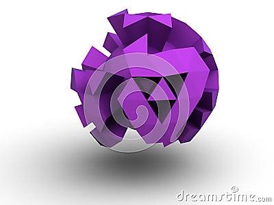 Floating distorted sphere