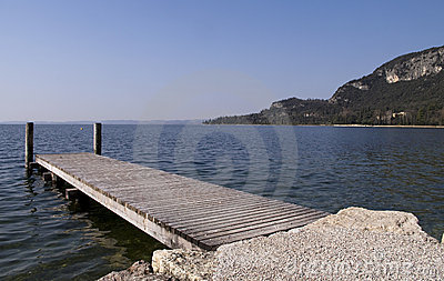 Floating dock in Garda