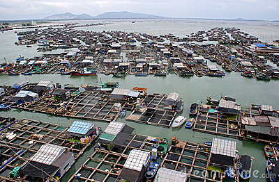 Floating fishing village Editorial Photography