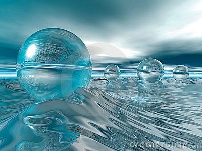 Floating Glass Baubles