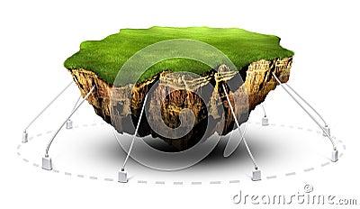 Floating ground