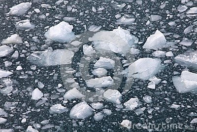 Floating ice