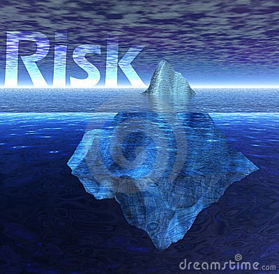 Free Floating Iceberg In The Ocean With Risk Text Stock Image - 6073911