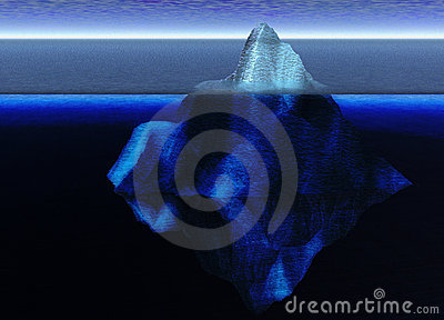 Floating Iceberg in the Open Ocean