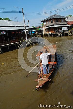 Floating market Editorial Photo