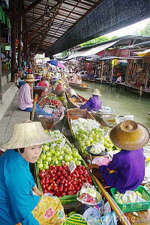 Floating Market  Editorial Photo