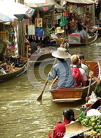 Free Floating Market Royalty Free Stock Photo - 66855