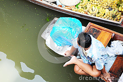 Floating market in Damnoen Saduak Editorial Photography