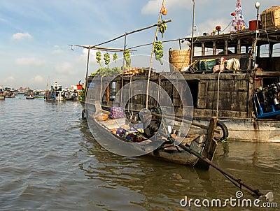 Floating market,Mekong-Delta