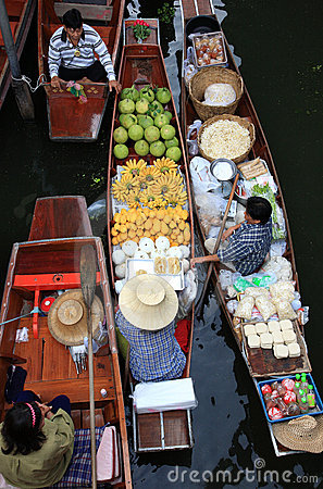 Floating market.thailand Editorial Photography