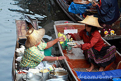 Floating Market.thailand Royalty Free Stock Image - Image: 15074136