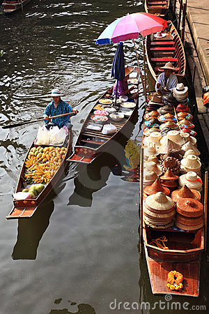 Floating market, Thailand Editorial Stock Image