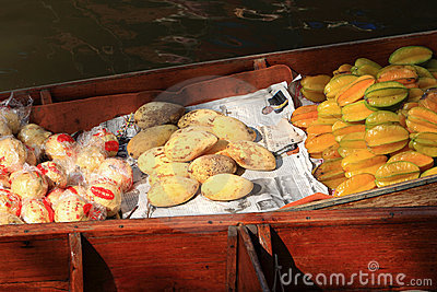 Floating Market,Thailand Editorial Stock Photo