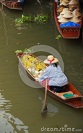 Free Floating Market Thailand Royalty Free Stock Photography - 5549617
