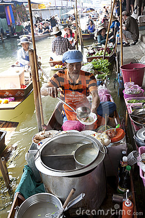 Floating Market Vendors Editorial Image