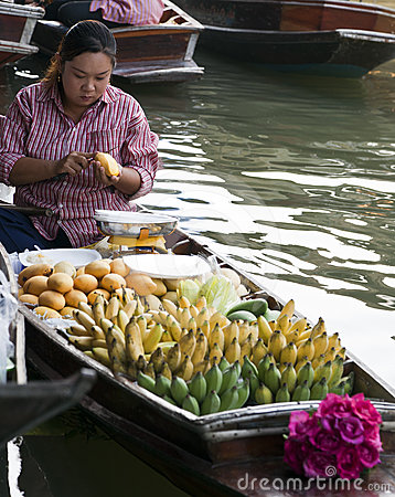 Floating Market Vendors Editorial Photo