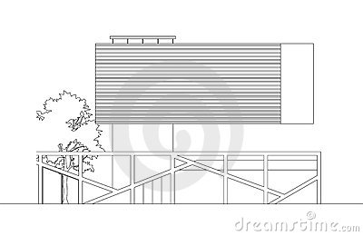 Floating Modern House Elevation